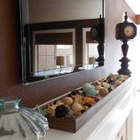 Winter Pinterest Challenge: Mantel Tray Display