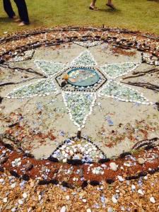 Jacquelina's water mandala Uplift Festival, Byron