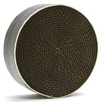 "STEELCAT Steel Honeycomb (CS-001) Catalytic Combustor (6"" diameter by 2"" wide wrapped in a stainless steel ""can"") for DUTCHWEST wood stoves (Models 224, 2460, 2461, 2462, Large 264, Extra Large 288, Andirondack, Federal / Airtight, Rocky Mountain, Seneca, 1990+ Sequoia, X-large). STEEL HEATS UP FASTER THAN CERAMIC RESULTING IN MORE HEAT RECOVERY! A worthwhile extra expenditure for better performance. Made in the USA by Condar, ""The Combustor Experts. GASKET INCLUDED"