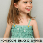 honeycomb smocked sundress