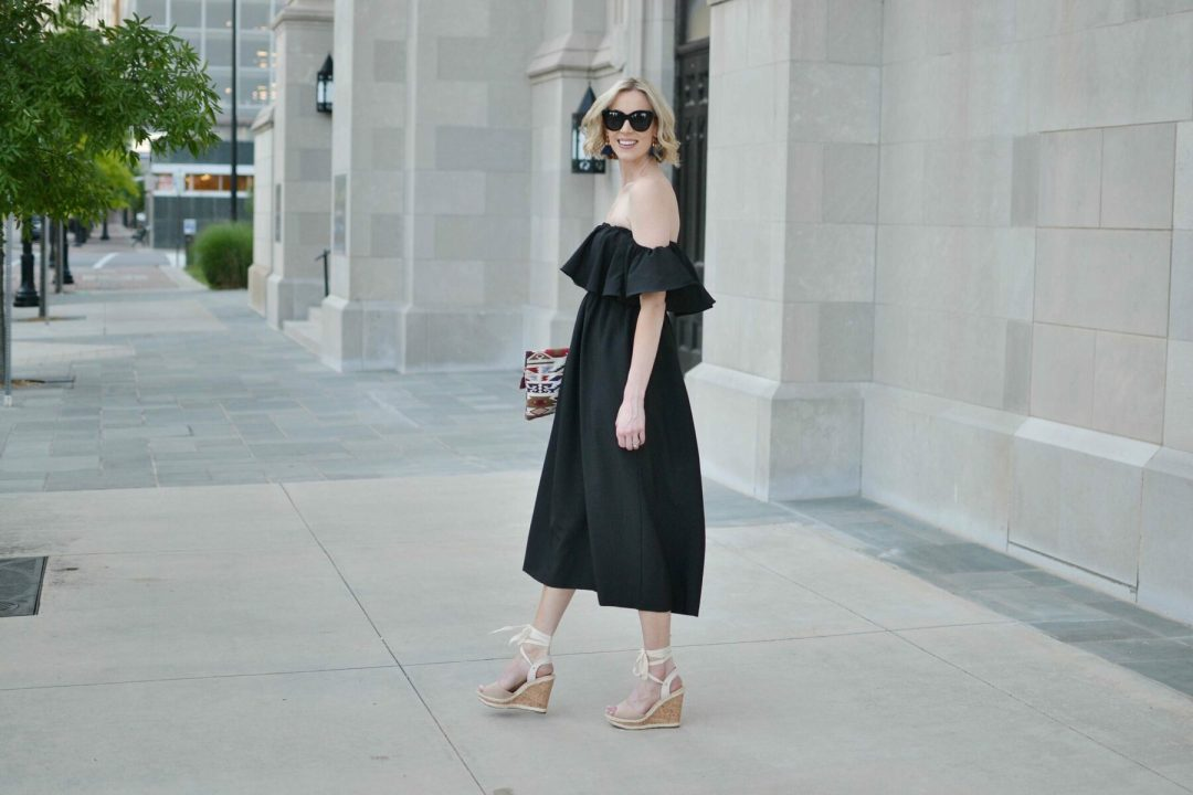 black off the shoulder dress 3