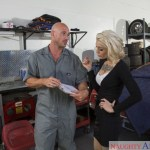 Luscious Kleio Valentien Seduces Manly Muscular Mechanic Johnny Sins