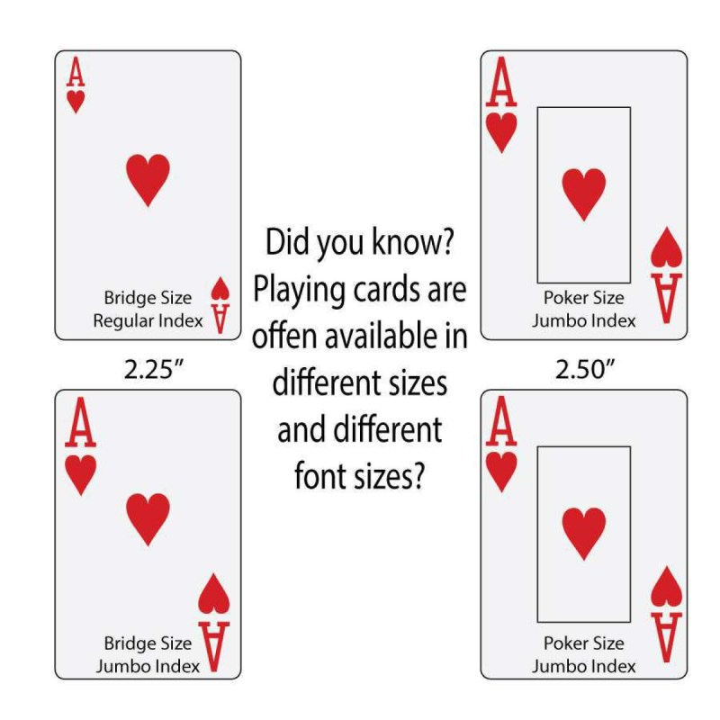 Large Of Playing Card Dimensions
