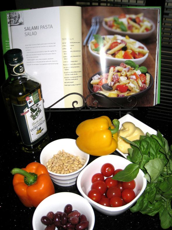 Salami Pasta Salad ingredients