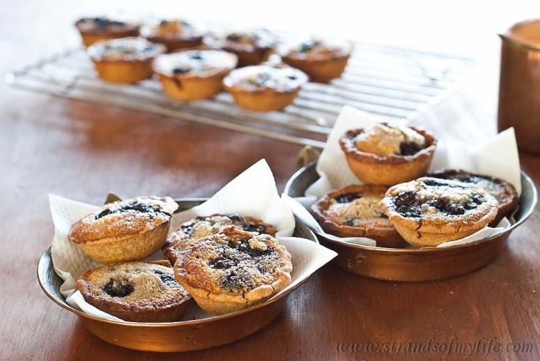 Blueberry & Almond Tarts - gluten-free & Low FODMAP