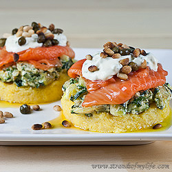 Salmon & Courgette Stacks - gluten free & low FODMAP