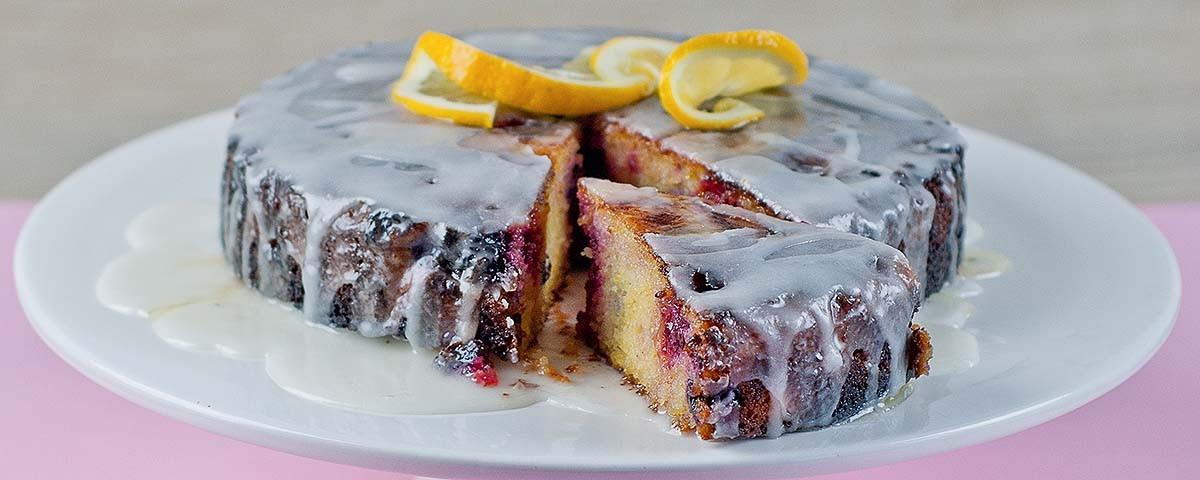 Lemon & Berry Polenta Cake 480