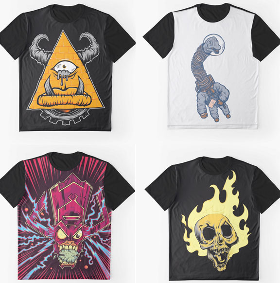 all-over Graphic Tees
