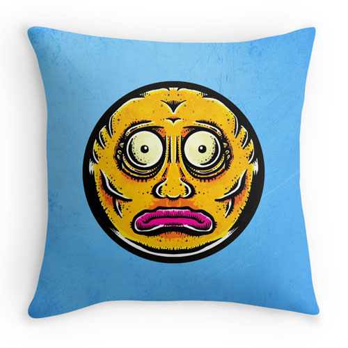 sticker face pillow
