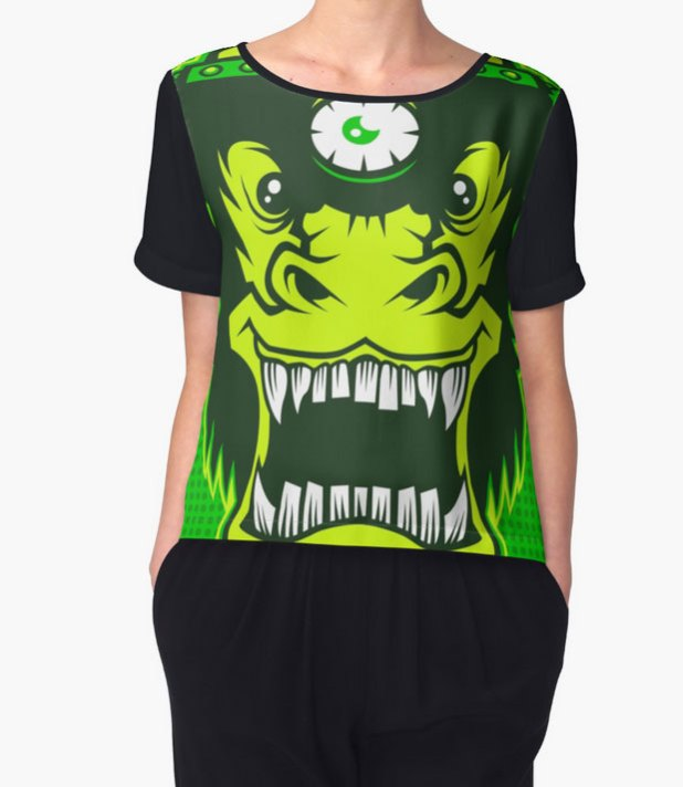Irradiated Gorilla Brains chiffon top