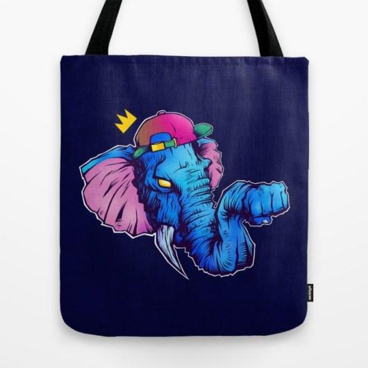 trunk bump tote bag