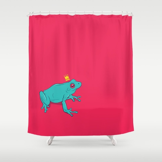 Frog Prince shower curtain