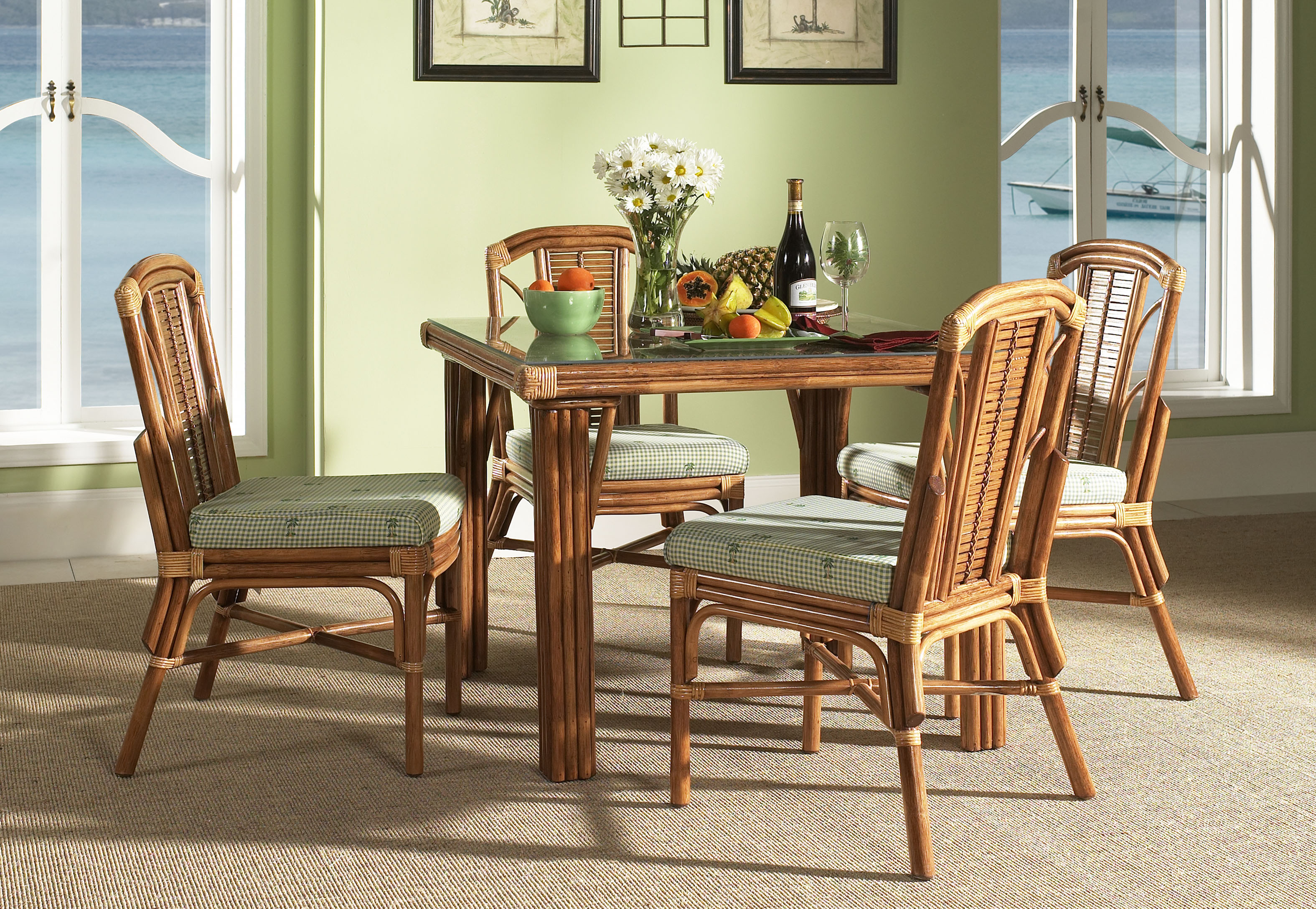 dining room wicker kitchen chairs Wicker Dining Chairs