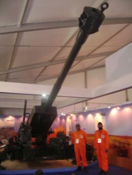 ST Kinetics' Pegasus Light Howitzer at DefExpo.