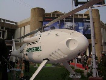 Schiebel's Camcopter at Defense Expo, New Delhi last February.