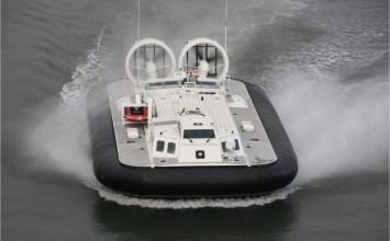 Coast Guard inducts slick new hovercraft