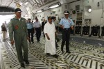 Defense Minister AK Antony touring the aircraft | DPR, Defense Ministry