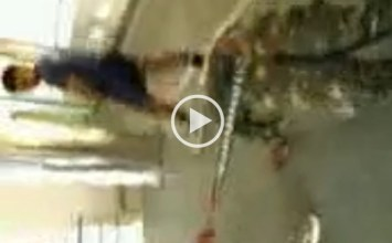 Video: Military cadet gets beating