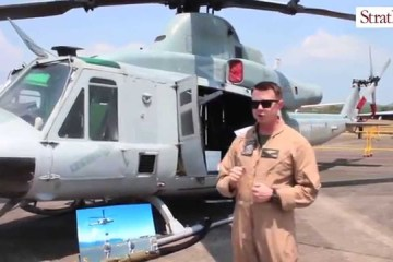 Video: USMC Bell UH-1Y at #LIMA2015
