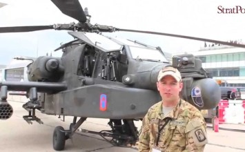 Video: U.S. Army Boeing Apache AH-64D at #PAS15