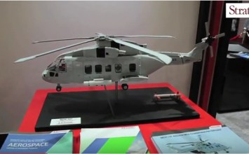 Video:  Kawasaki MCH-101 maritime helicopter at Dubai Airshow 2015