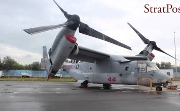 Video: Bell Boeing MV-22 Osprey Tilt-Rotor at Singapore Airshow 2016