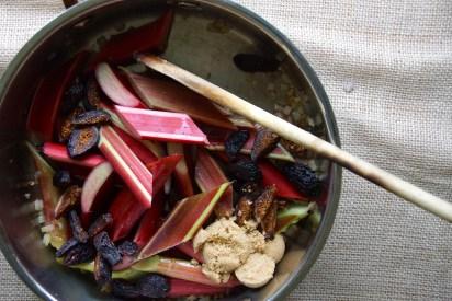 Rhubarb-Fig Agrodolce