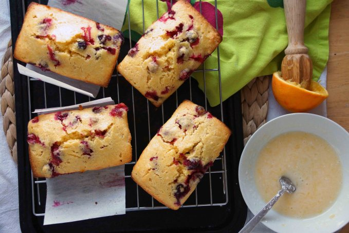Cooled Cranberry Quick Bread
