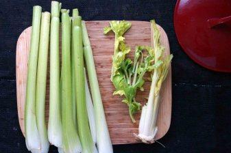 breaking down the celery