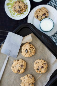 Peanut Butter-Chocolate Chip Oatmeal-Raisin Cookies