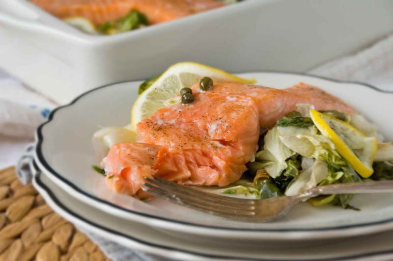 Large Of Salmon With Capers