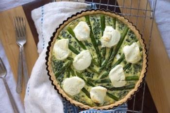 Asparagus, Spinach & Chèvre Tart