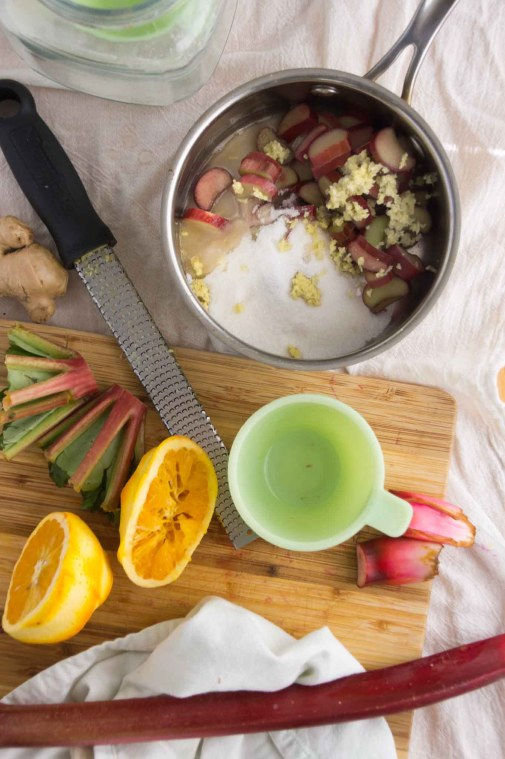 Ginger-Rhubarb Sauce