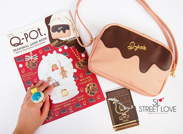 Q-pot Seasonal Look Book Melty Strawberry Chocolate 1