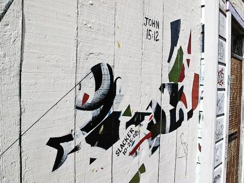 john 5:12 street art by slacker in SF