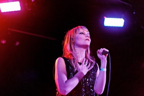 leila moss of the duke spirit performs at santos party house in NYC