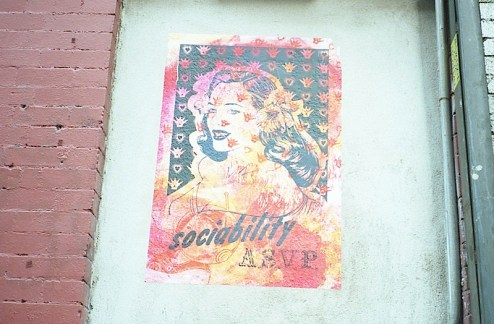 asvp street art graffiti wheatpaste found in NYC