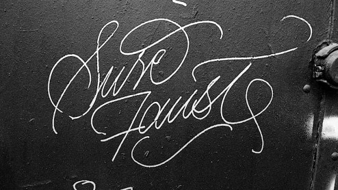 handstyle graffiti by sure and faust found in nyc