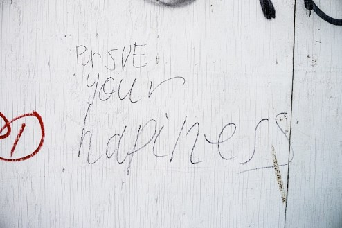pursue your happiness graffiti found in nyc