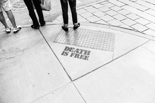 graffiti by death found in soho nyc