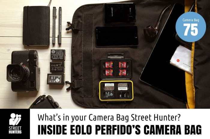 内部Eolo Perfido's Camera Bag