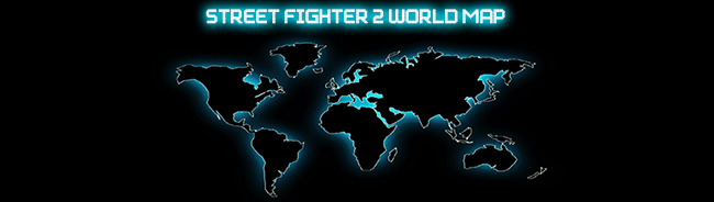 Street Fighter 2 World Map   Super Turbo Revival   ST Revival Isimorn  a French ST player created a world wide map with locations for ST  and other versions of SF2       He included arcades  game centers   major and  minor