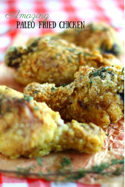 Amazingly Crispy Paleo Fried Chicken via StrictlyDelicious