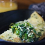Spring Greens & Gorgonzola Omelette | StrictlyDelicious.com