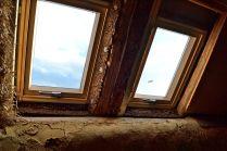 Fensterisolierung Strohballengewölbe