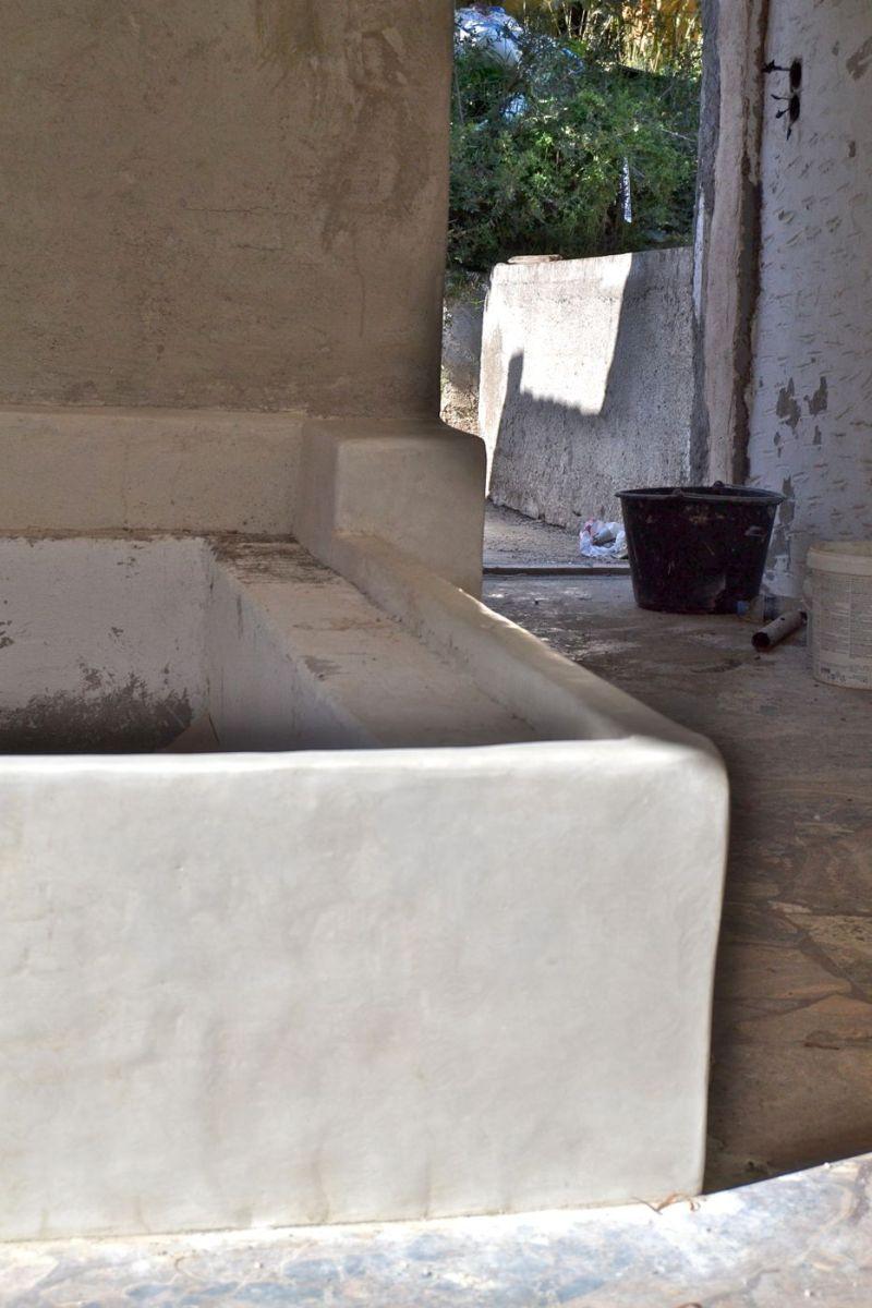 mediterran bad und schlafzimmer mit tadelakt gr. Black Bedroom Furniture Sets. Home Design Ideas