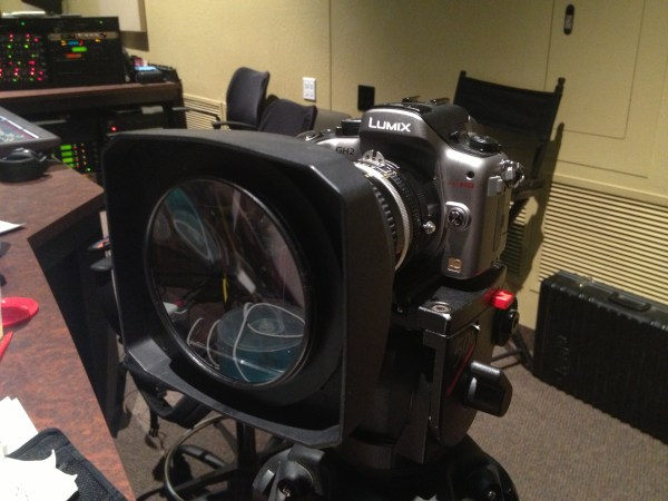 Diopter (Close-Up Lens) in place