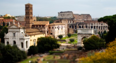 The Roman Forum. The Coliseum is in the background. (Mike Ekern/University of St. Thomas)