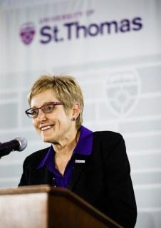 President Julie Sullivan helps launch the new brand.