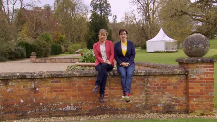 Yes, they're singing an absurd song. RIP Mel and Sue.
